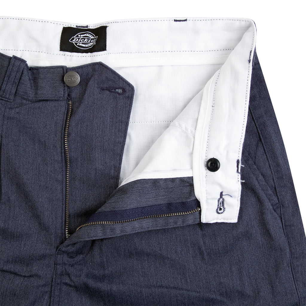Dickies Clarkston Pleated Pants Blue - Waistband