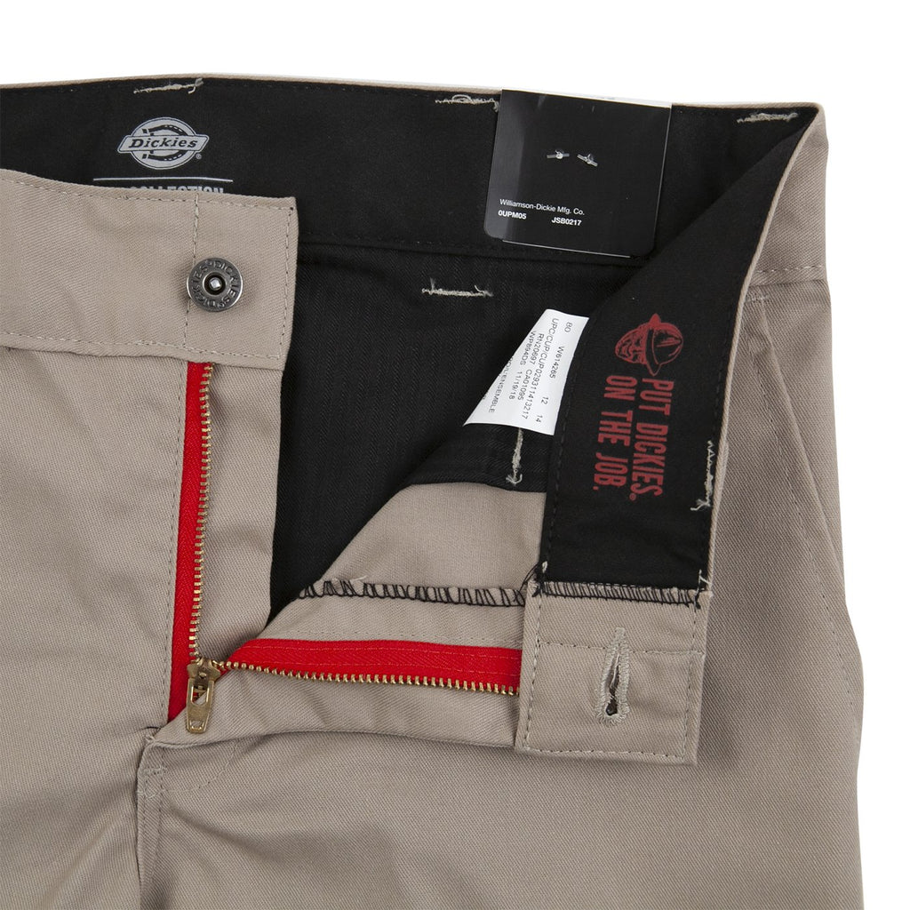 Dickies 894 Industrial Work Pant in Khaki - Unzipped