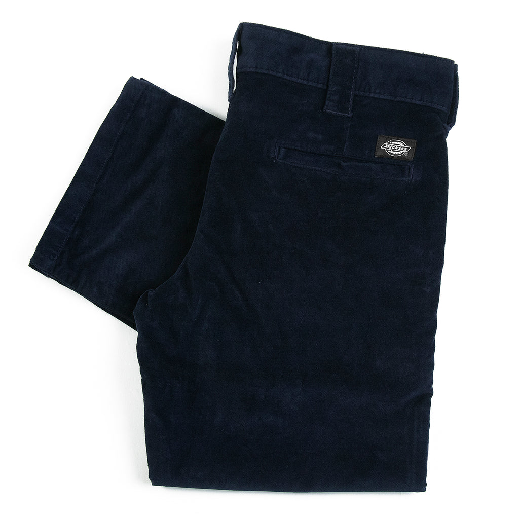 Dickies Slim Fit Lewisburg Velvet Work Pant in Dark Navy