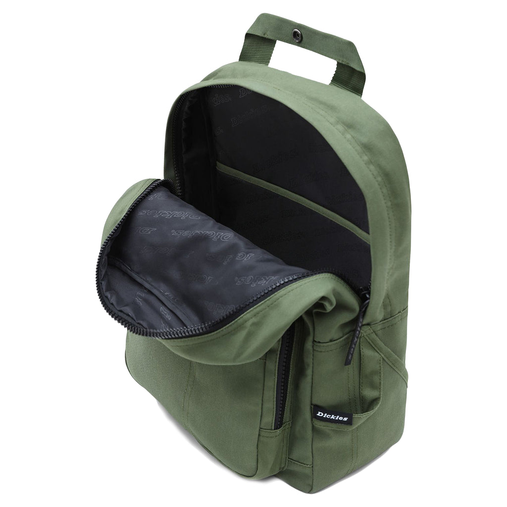 Dickies Lisbon Backpack in Olive Green - Inside