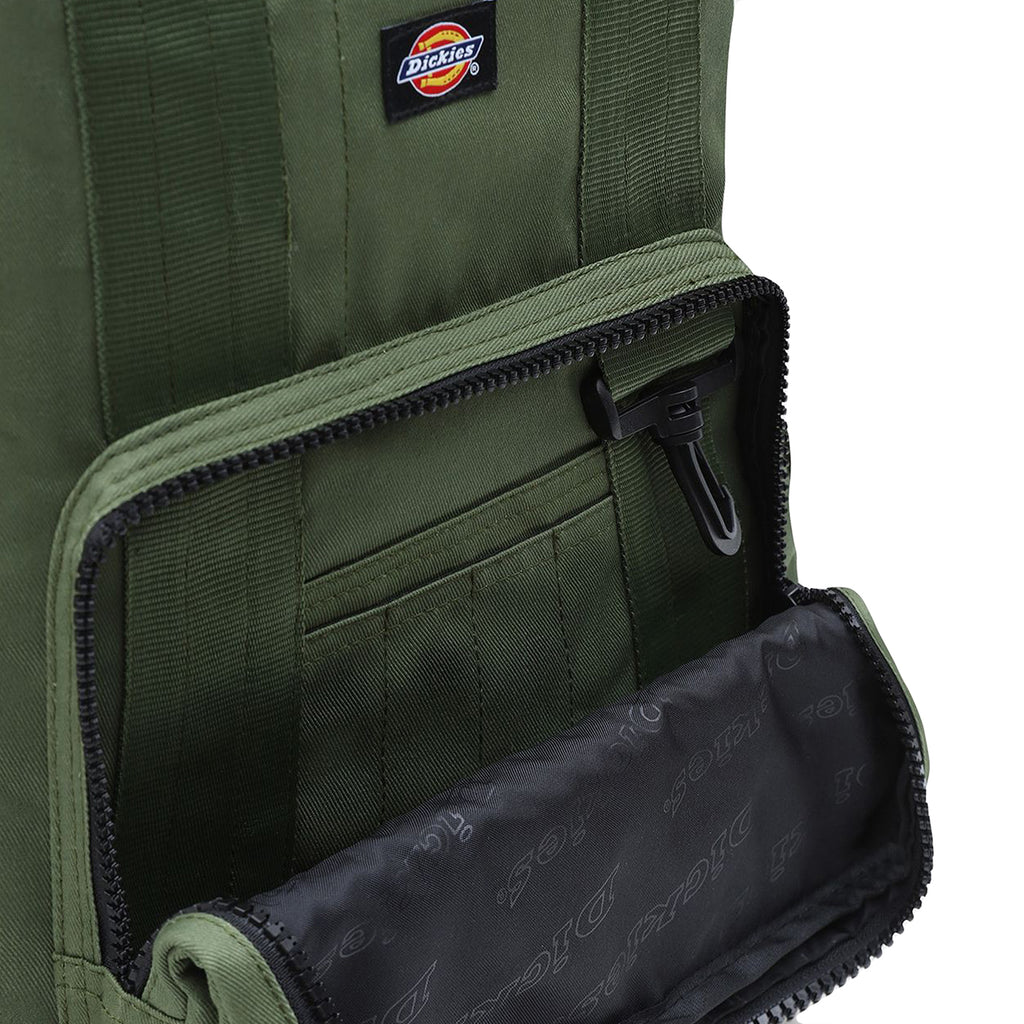 Dickies Lisbon Backpack in Olive Green - Open 2