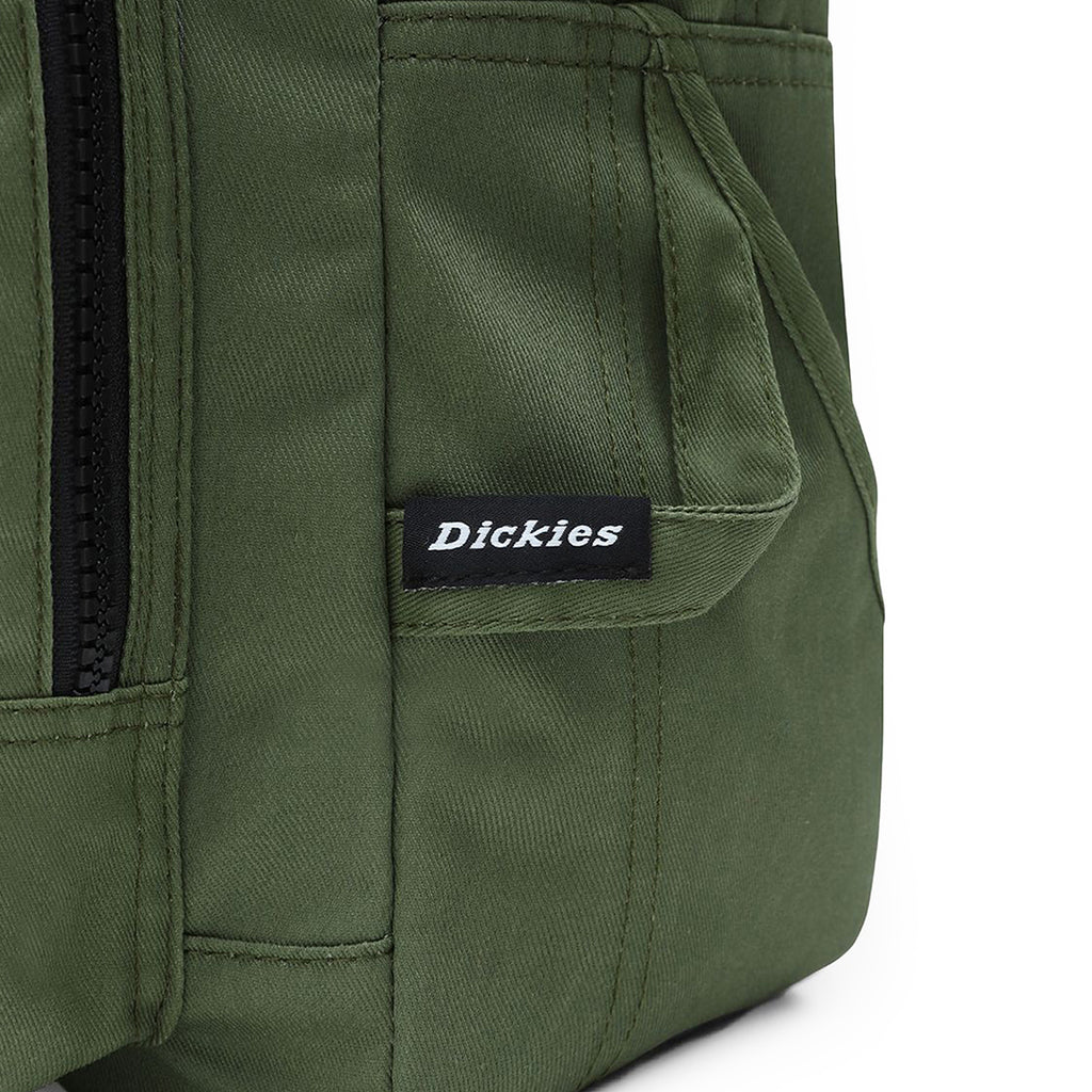 Dickies Lisbon Backpack in Olive Green - Label