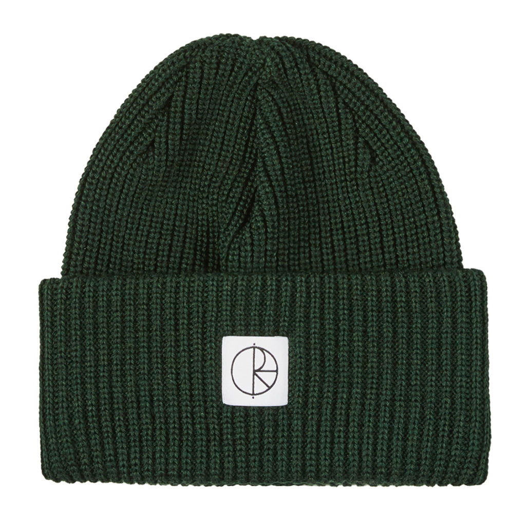 Polar Skate Co Double Fold Merino Beanie in Dark Green