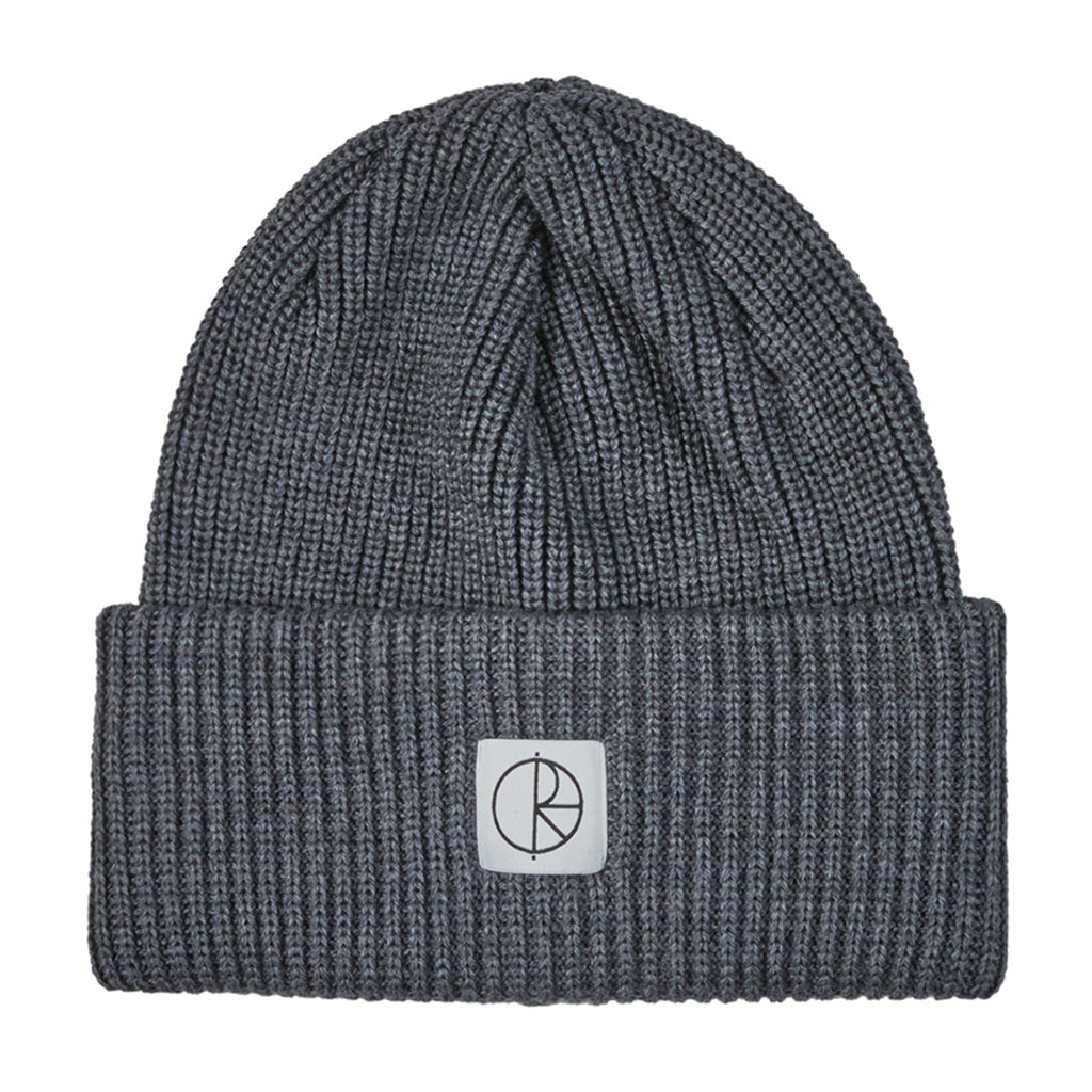 Polar Skate Co Double Fold Merino Beanie in Heather Grey