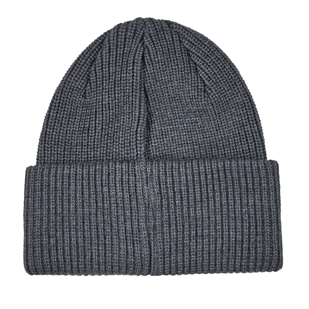 Polar Skate Co Double Fold Merino Beanie in Heather Grey - Back