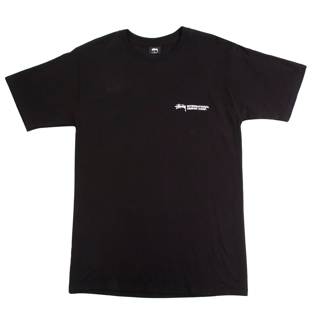 Stussy Double Mask T Shirt in Black - Front