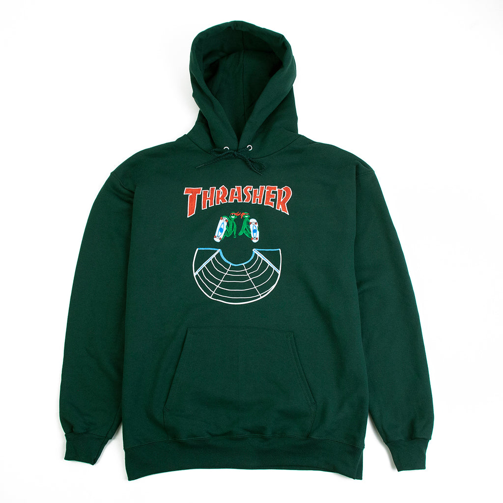 Thrasher Doubles Hoodie in Green