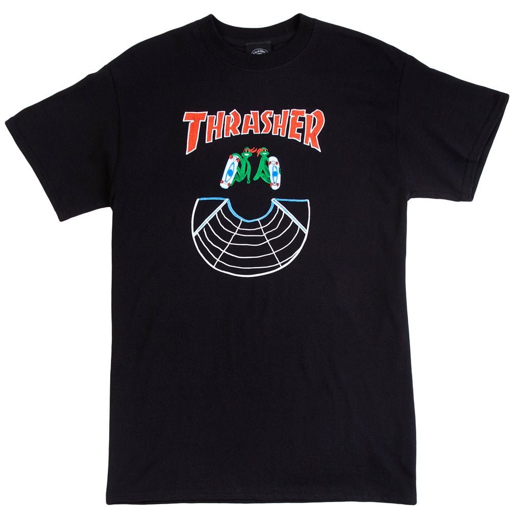 Thrasher Doubles T Shirt in Black
