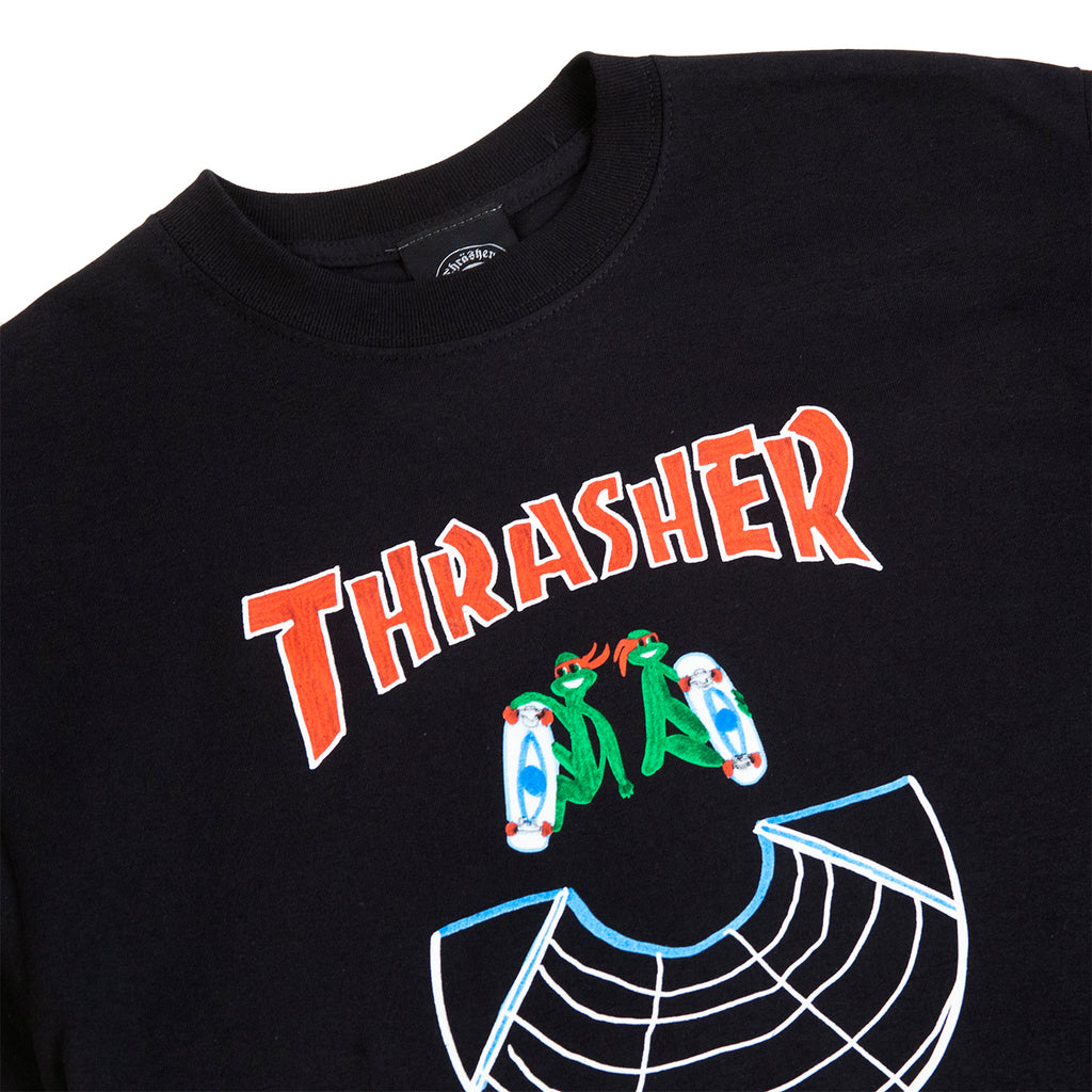 Thrasher Doubles T Shirt in Black - Detail