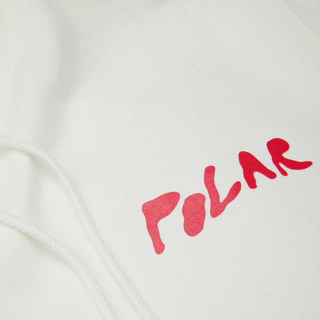 Polar Skate Co Elvira Hoodie in Cloud White - Front Print