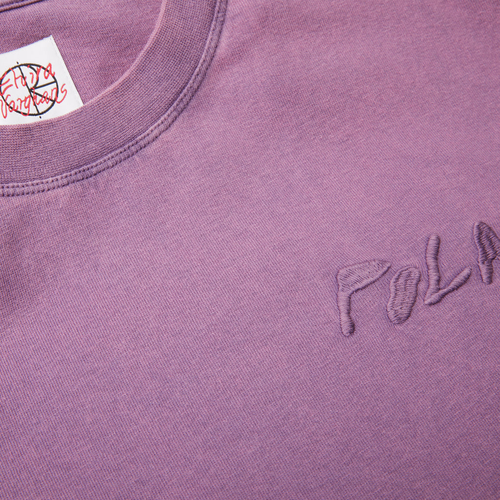 Polar Skate Co Elvira Logo T Shirt in Purple - Detail