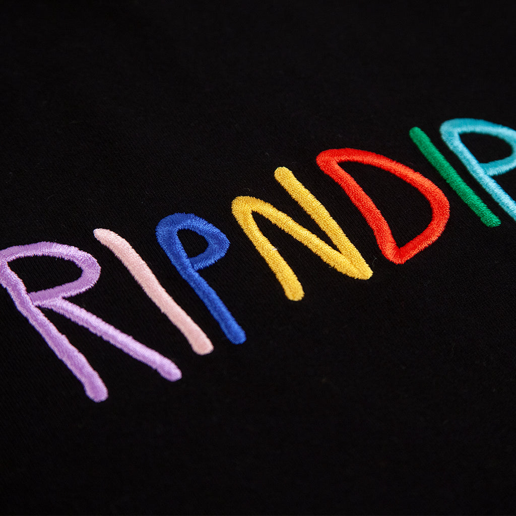 RIPNDIP Embroidered Logo T Shirt - Black