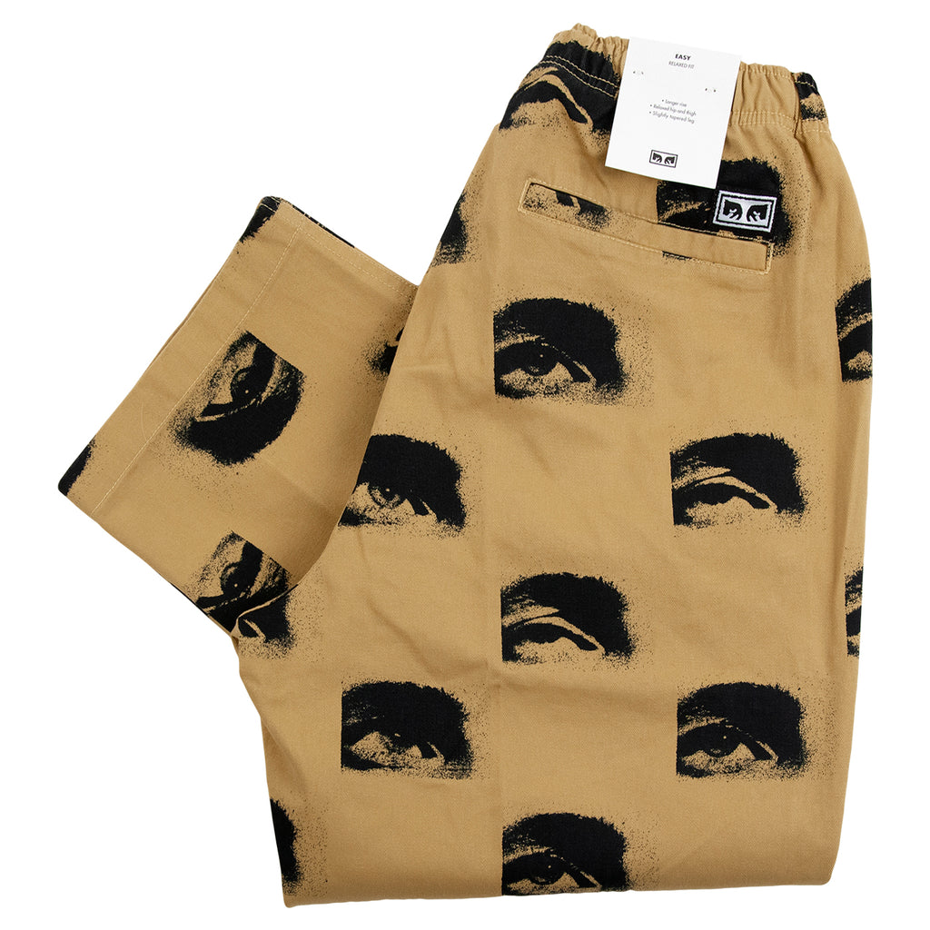 Obey Clothing Easy Big Boy Printed Pant in Almond Multi