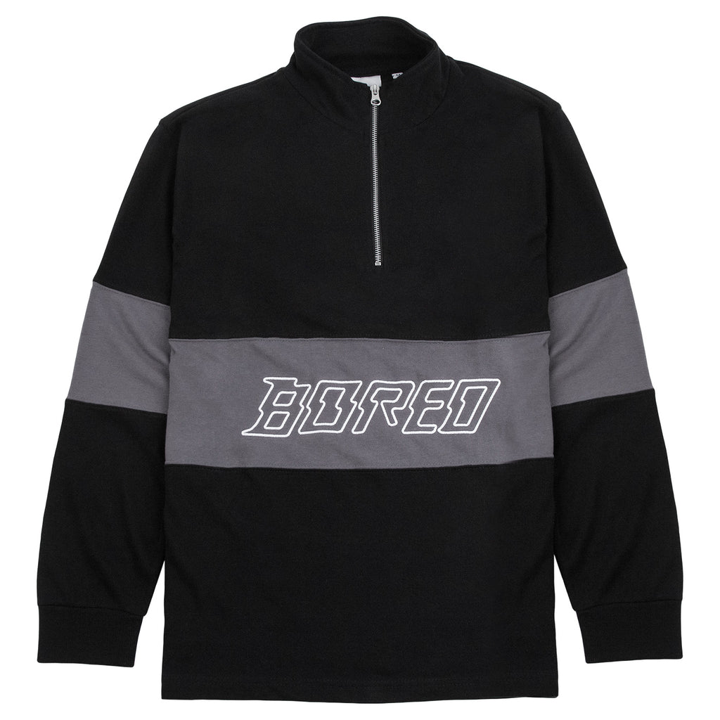 Bored of Southsea Electric Mock Neck Zip in Black