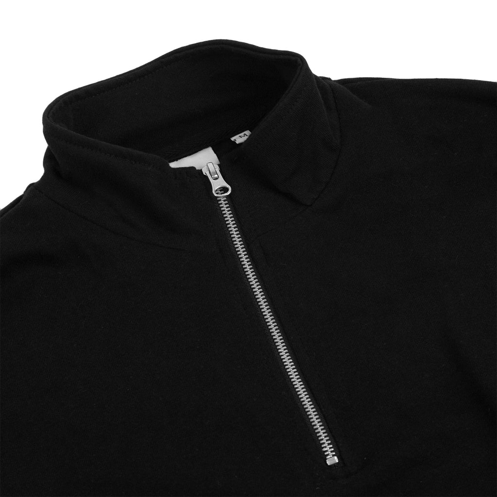 Bored of Southsea Electric Mock Neck Zip in Black - Neck