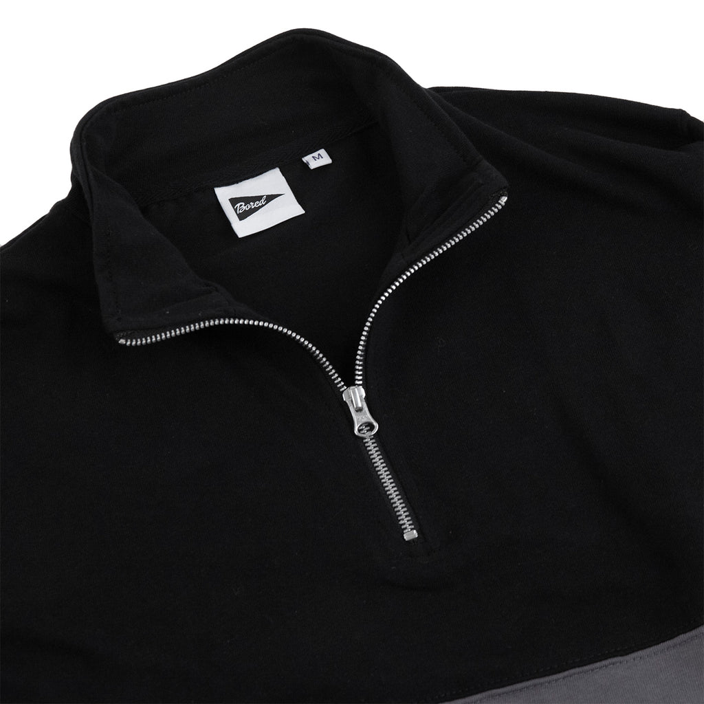 Bored of Southsea Electric Mock Neck Zip in Black - Unzipped