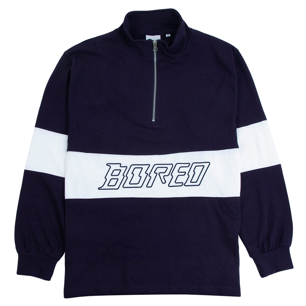 Bored of Southsea Electric Panel 1/4 Zip in Navy