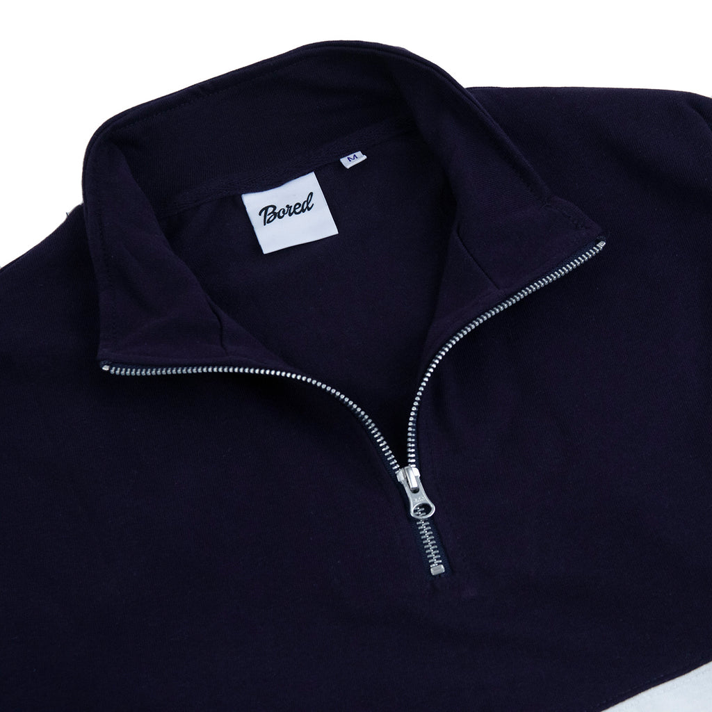 Bored of Southsea Electric Panel 1/4 Zip - Navy