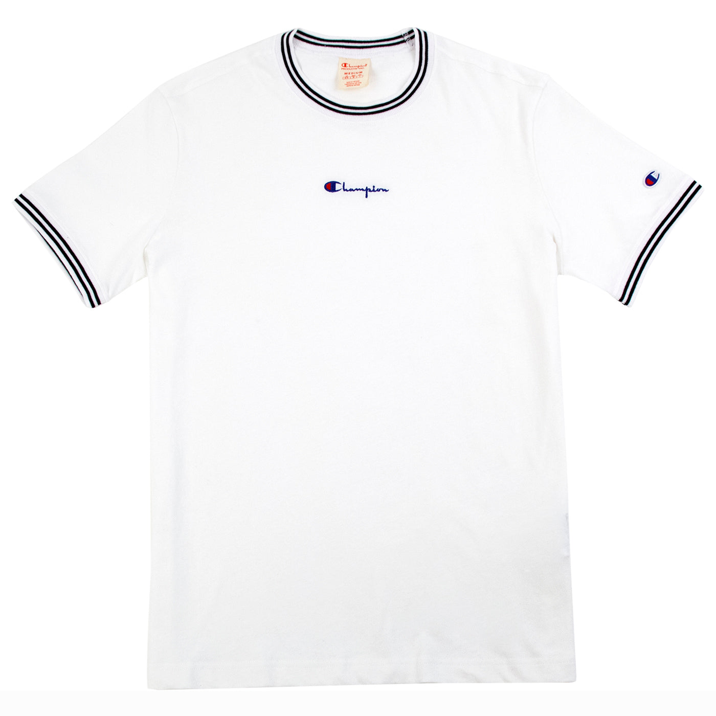 af41e07f5 Small Script Logo T Shirt in White by Champion Reverse Weave | Bored of  Southsea