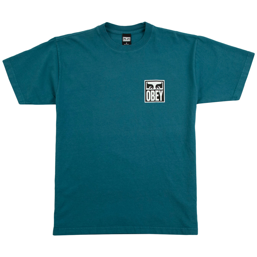 Obey Clothing Eyes Icon 2 T Shirt in Eucalyptus - Front
