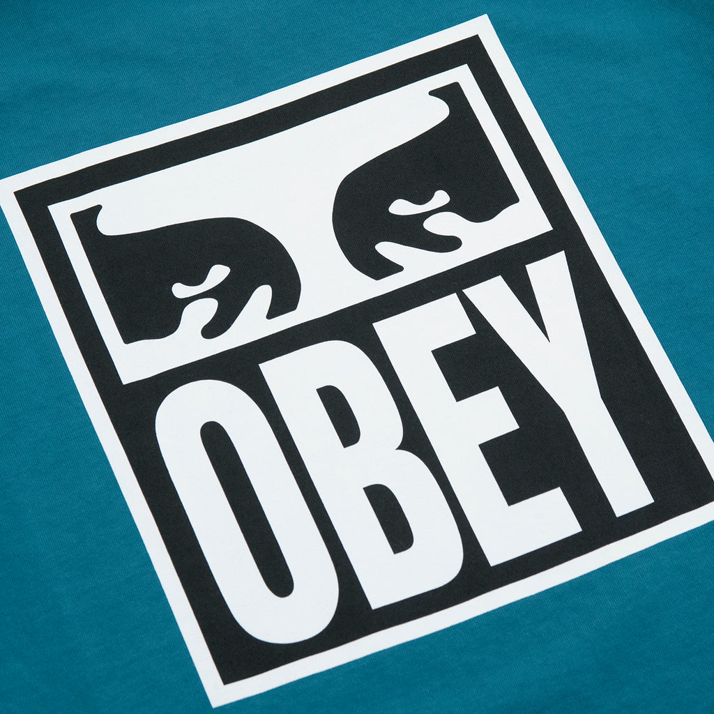 Obey Clothing Eyes Icon 2 T Shirt in Eucalyptus - Back Print