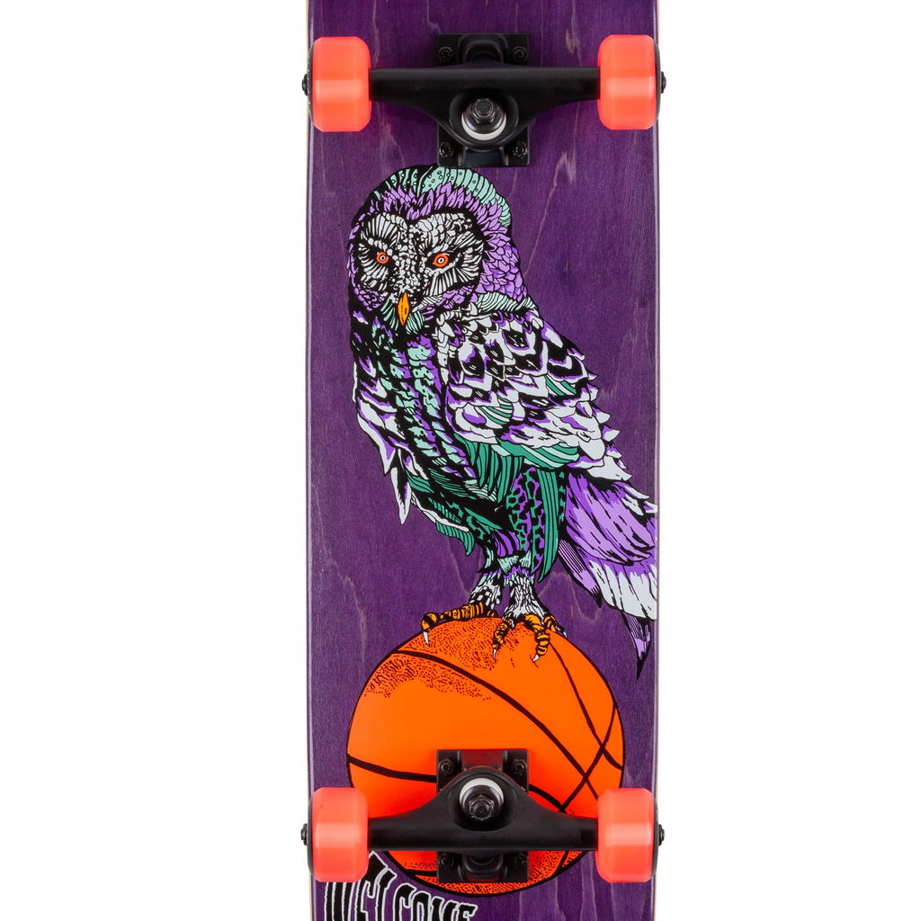"Welcome Skateboards Hooter Shooter Complete Skateboard in 8"" - Print"