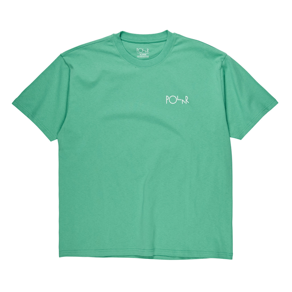 Polar Skate Co Fill Logo T Shirt in Peppermint / Dark Green - Front