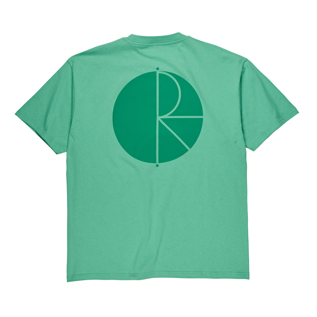 Polar Skate Co Fill Logo T Shirt in Peppermint / Dark Green
