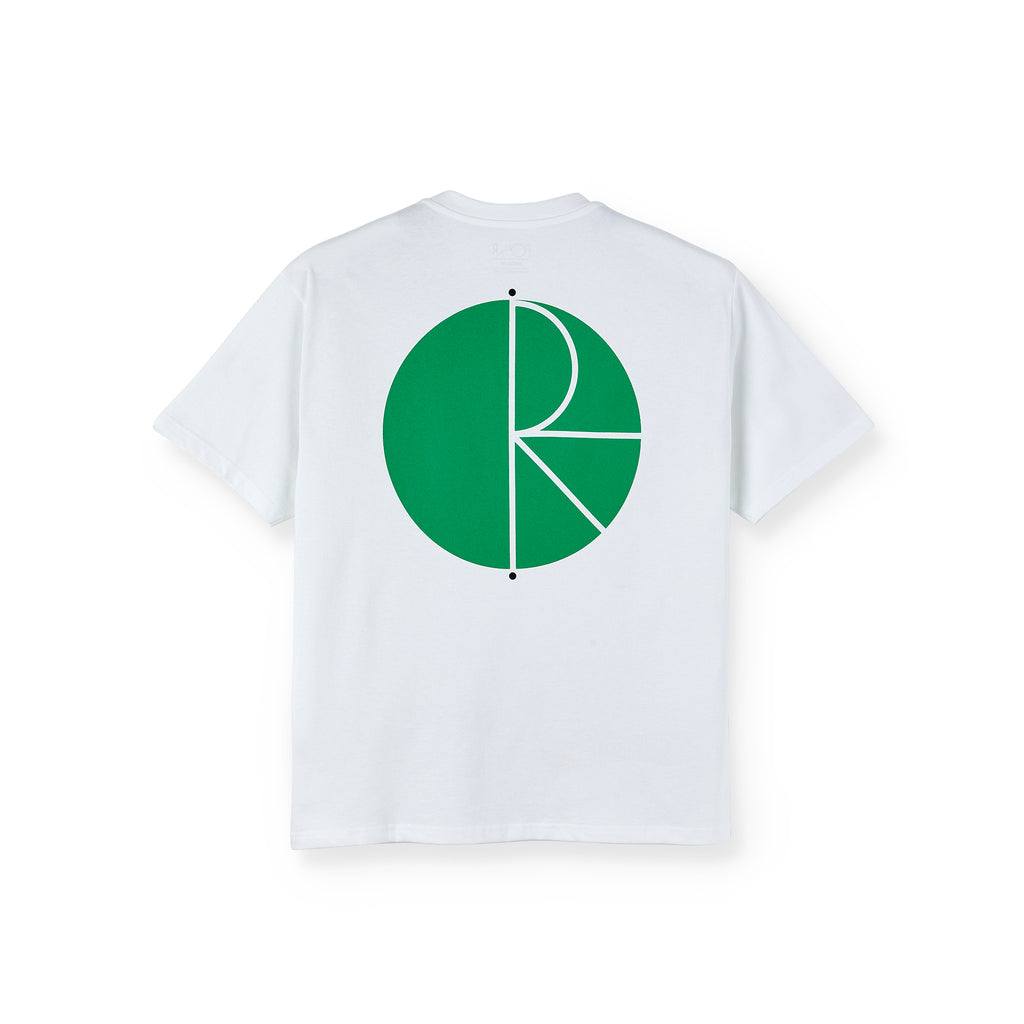 Polar Skate Co Fill Logo T Shirt in White / Green