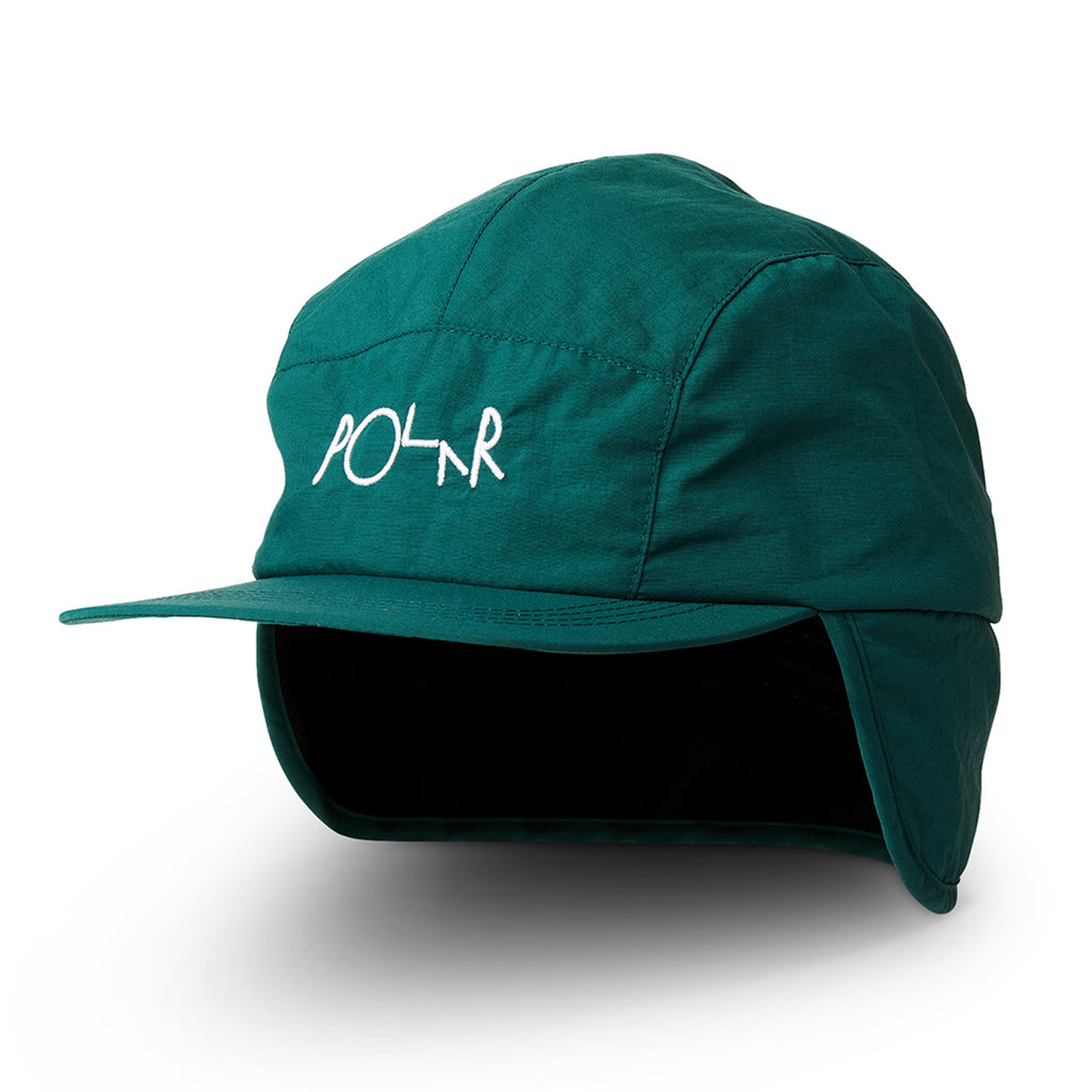 Polar Skate Co Flap Cap in Dark Green