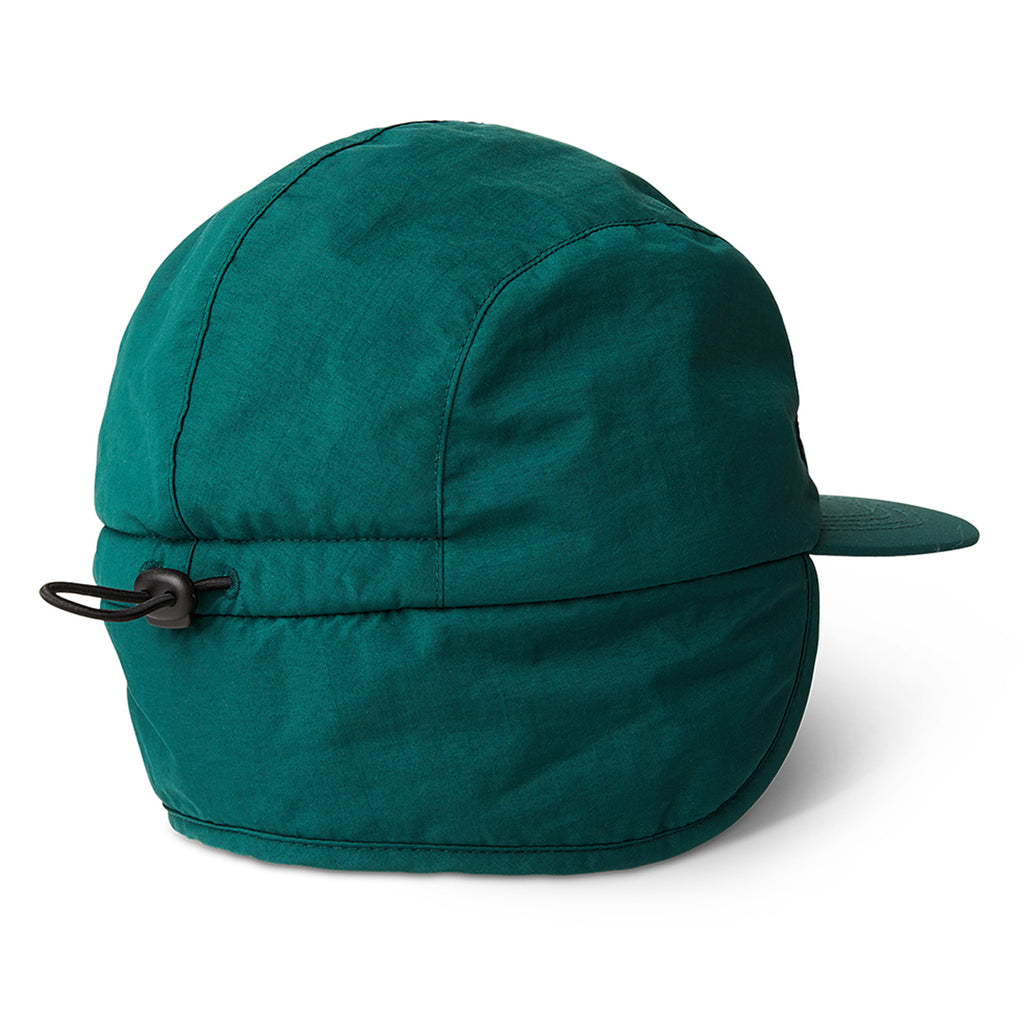 Polar Skate Co Flap Cap in Dark Green - Back