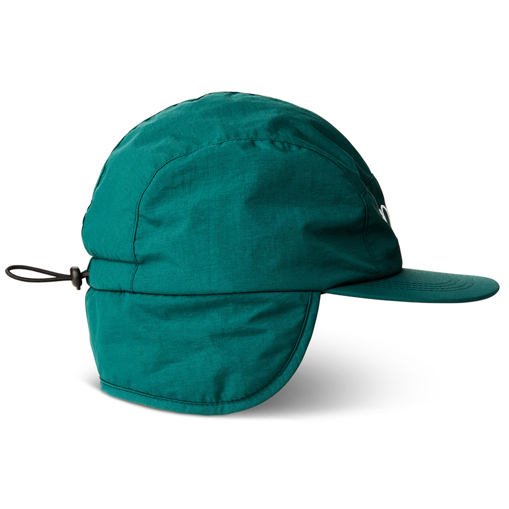 Polar Skate Co Flap Cap in Dark Green - Detail