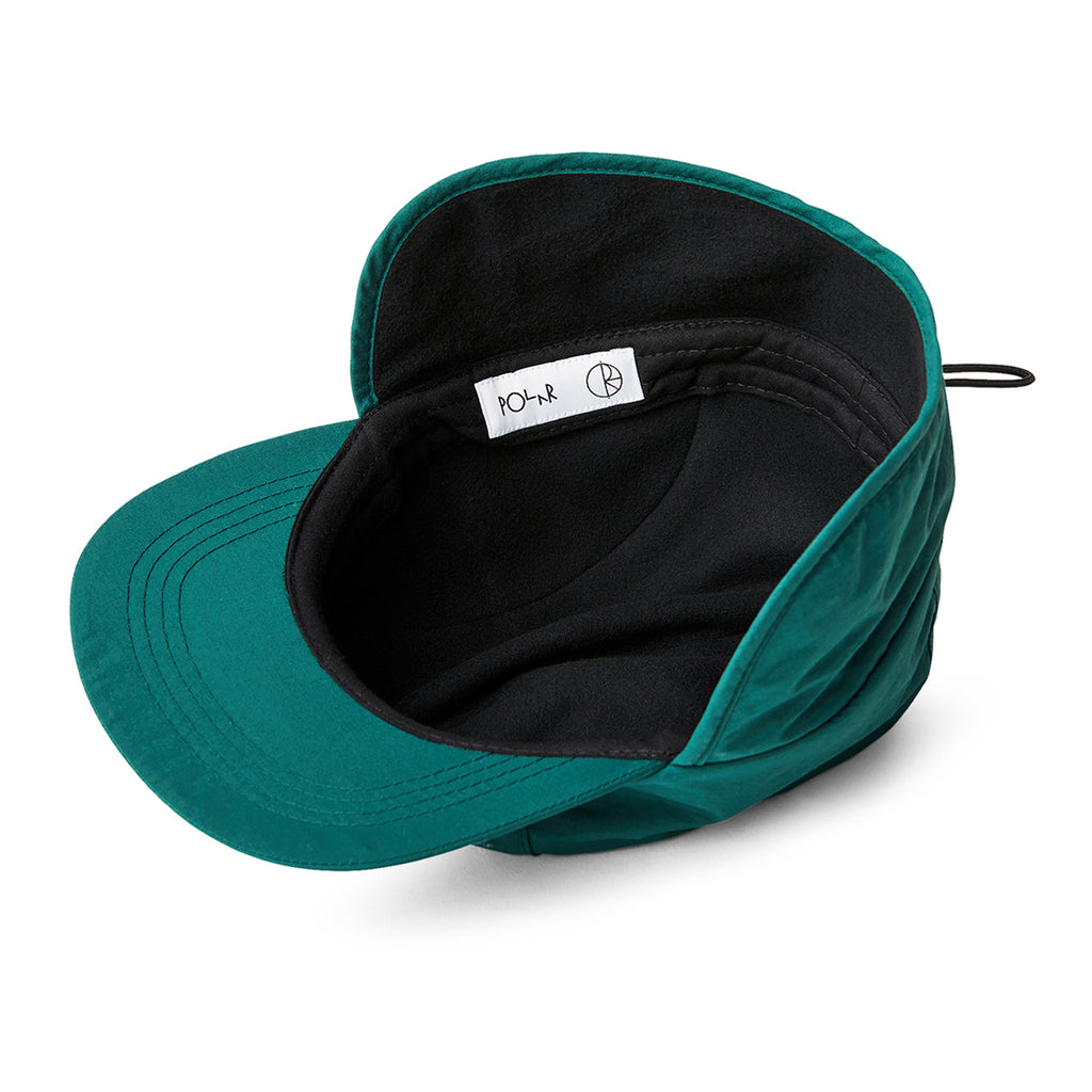 Polar Skate Co Flap Cap in Dark Green - Inside