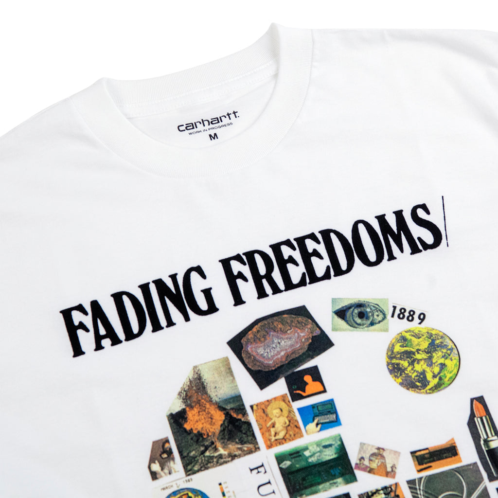 Carhartt WIP Fading T Shirt in White - Detail