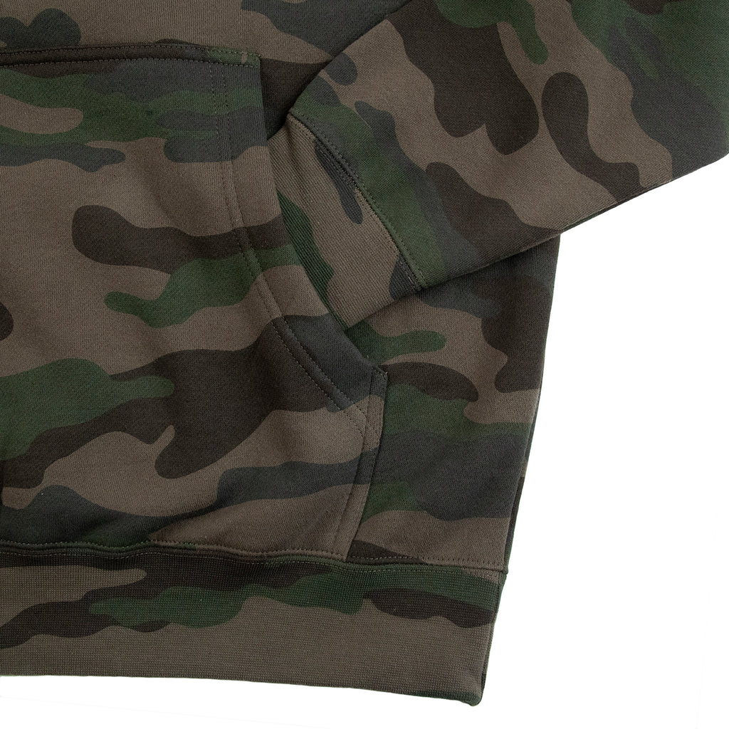 Thrasher Flame Hoodie in Forest Camo - Cuff