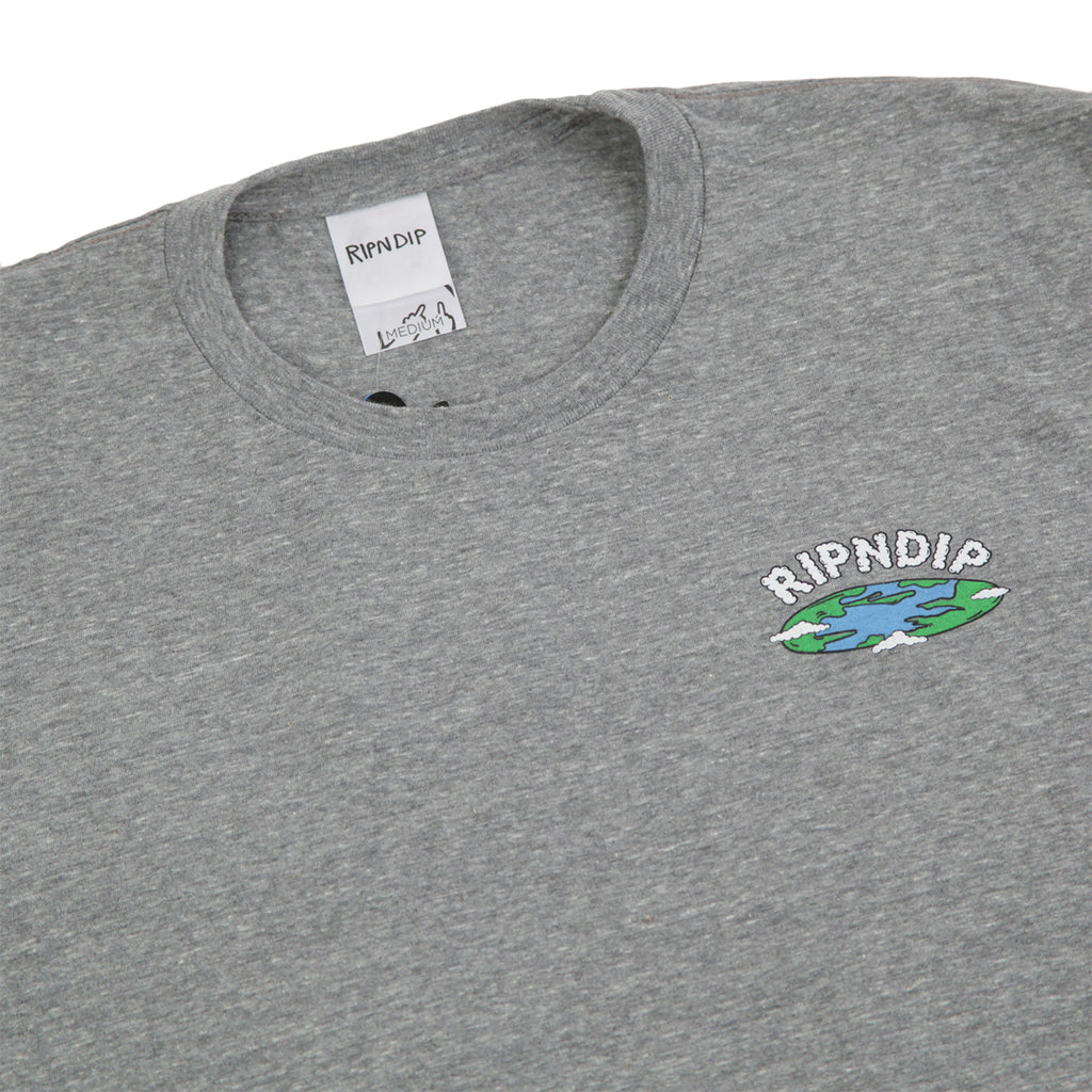 RIPNDIP Flat T Shirt in Ash Heather - Detail