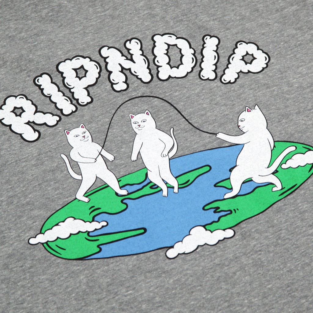 RIPNDIP Flat T Shirt in Ash Heather - Back print detail