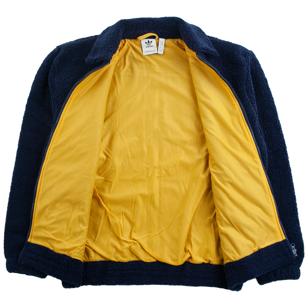 Adidas Fleece Track Top Jacket - Collegiate Navy / Legacy Gold / Mineral Red
