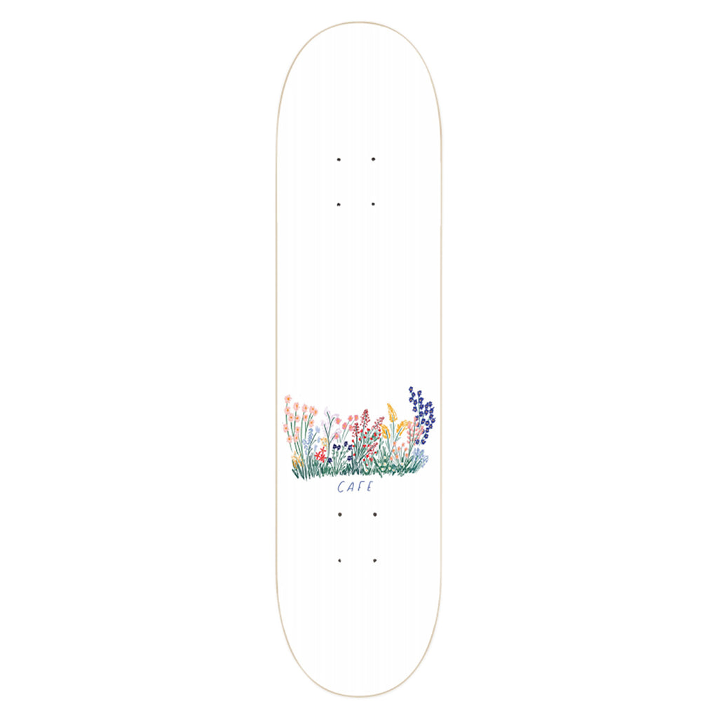 Skateboard Cafe Flower Bed Skateboard Deck in White