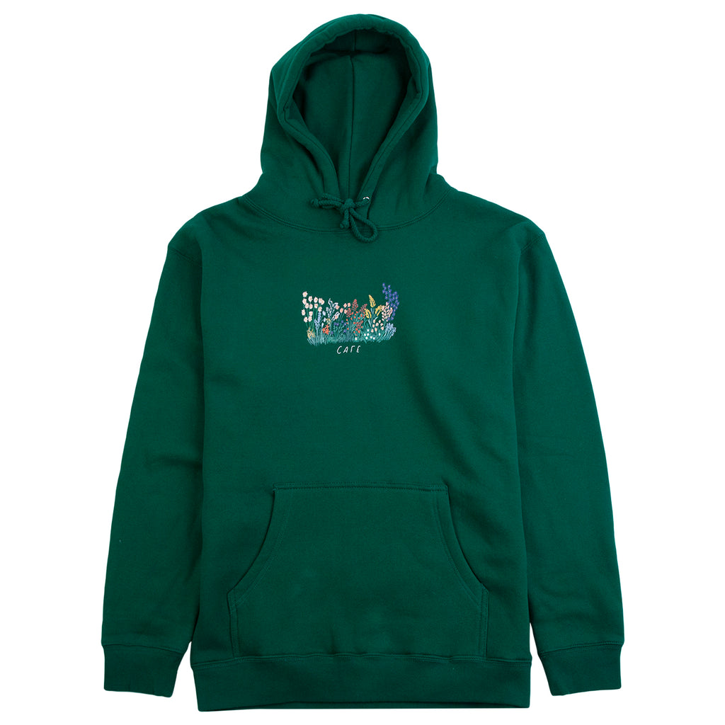 Skateboard Cafe Flower Bed Hoodie in Forest Green