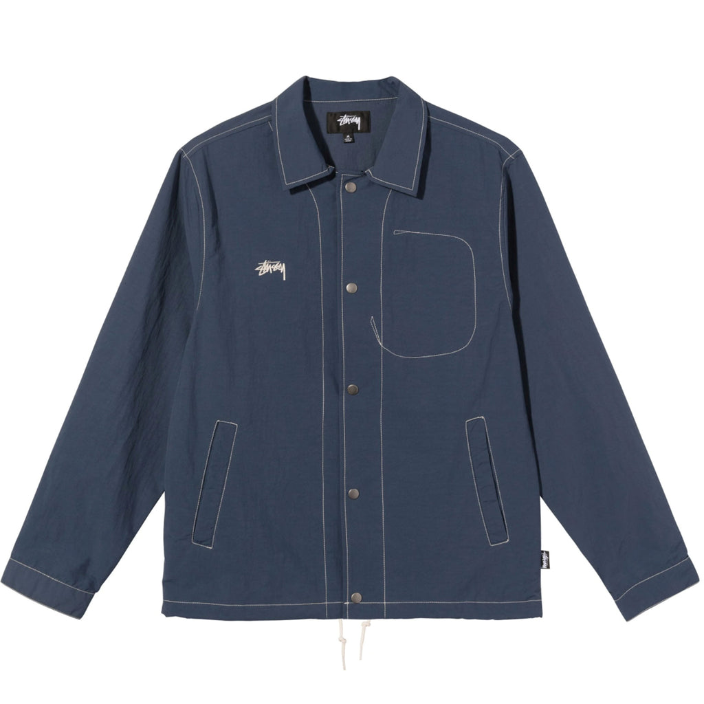 Stussy Folsom Coach Jacket in Navy