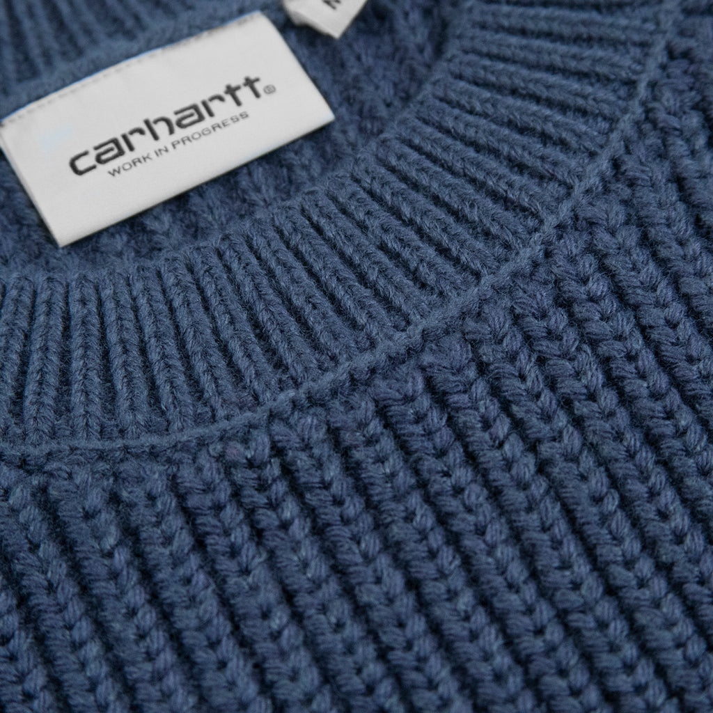 Carhartt WIP Forth Sweater in Admiral - Collar