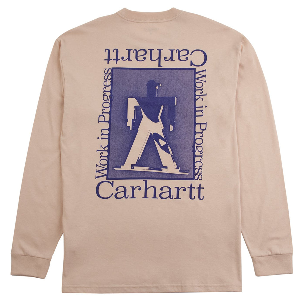 Carhartt WIP L/S Foundation T Shirt in Powdery / Blue