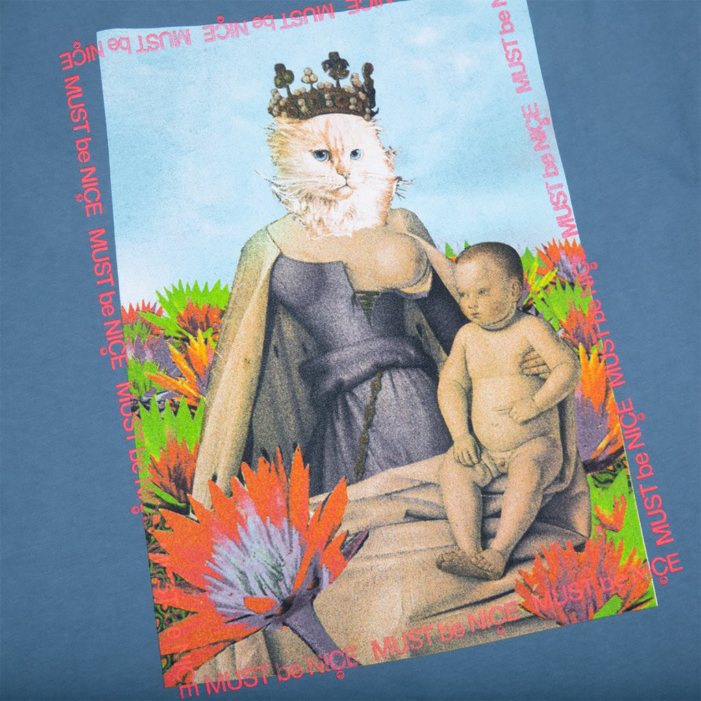 RIPNDIP Fouquet Madonna Pocket T Shirt in Powder Blue - Back Print