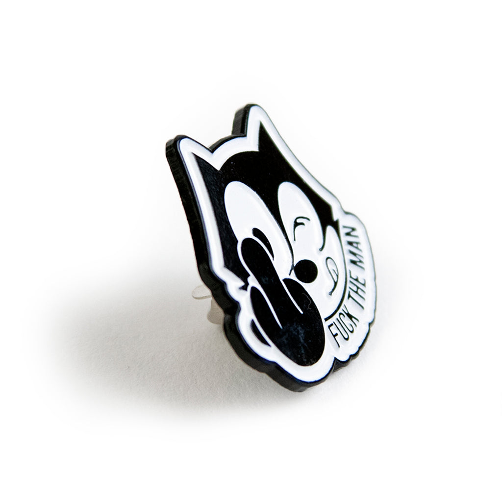 Signature Clothing Felix The Man Pin Badge - Side