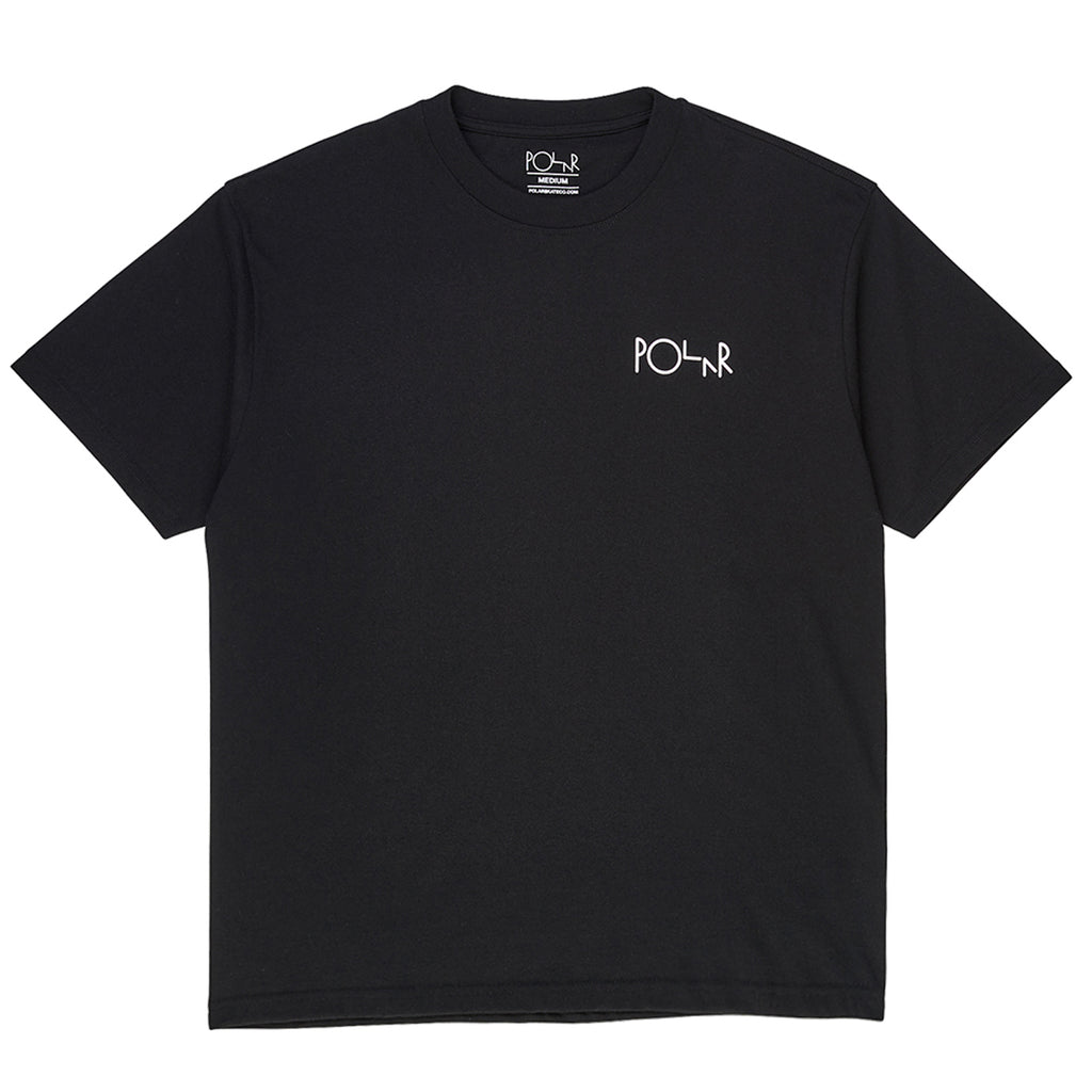 Polar Skate Co Garden Fill Logo T Shirt in Black - Front