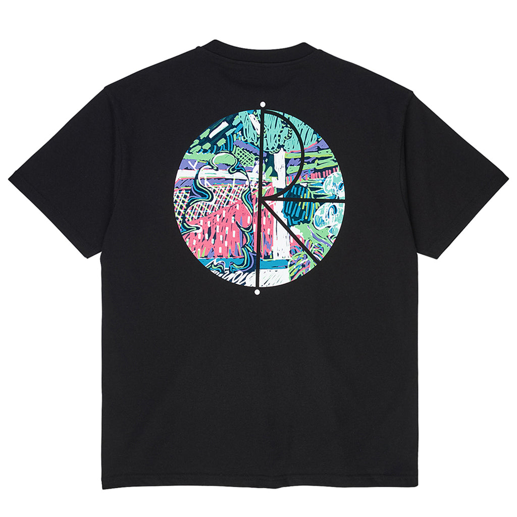 Polar Skate Co Garden Fill Logo T Shirt in Black