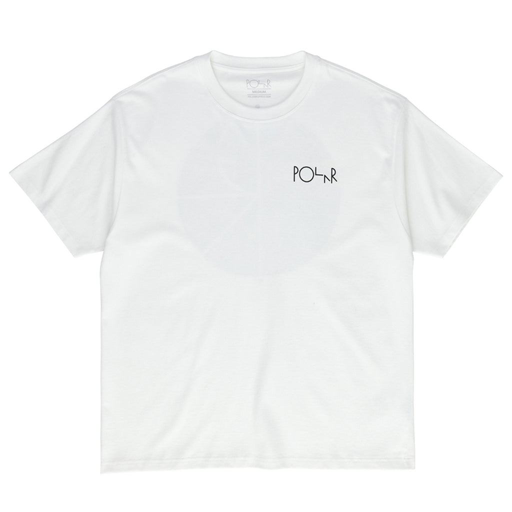 Polar Skate Co Garden Fill Logo T Shirt in White - Front
