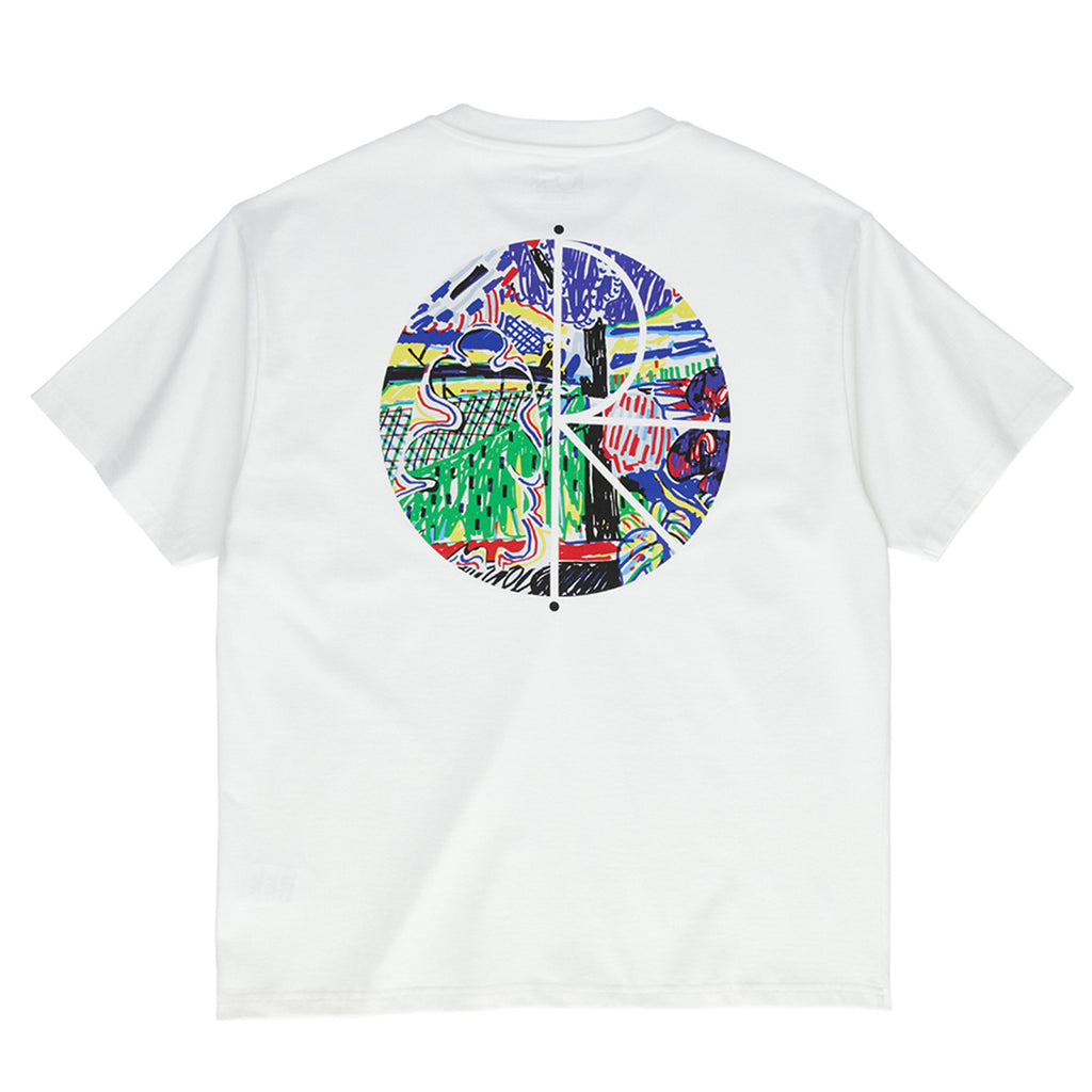 Polar Skate Co Garden Fill Logo T Shirt in White