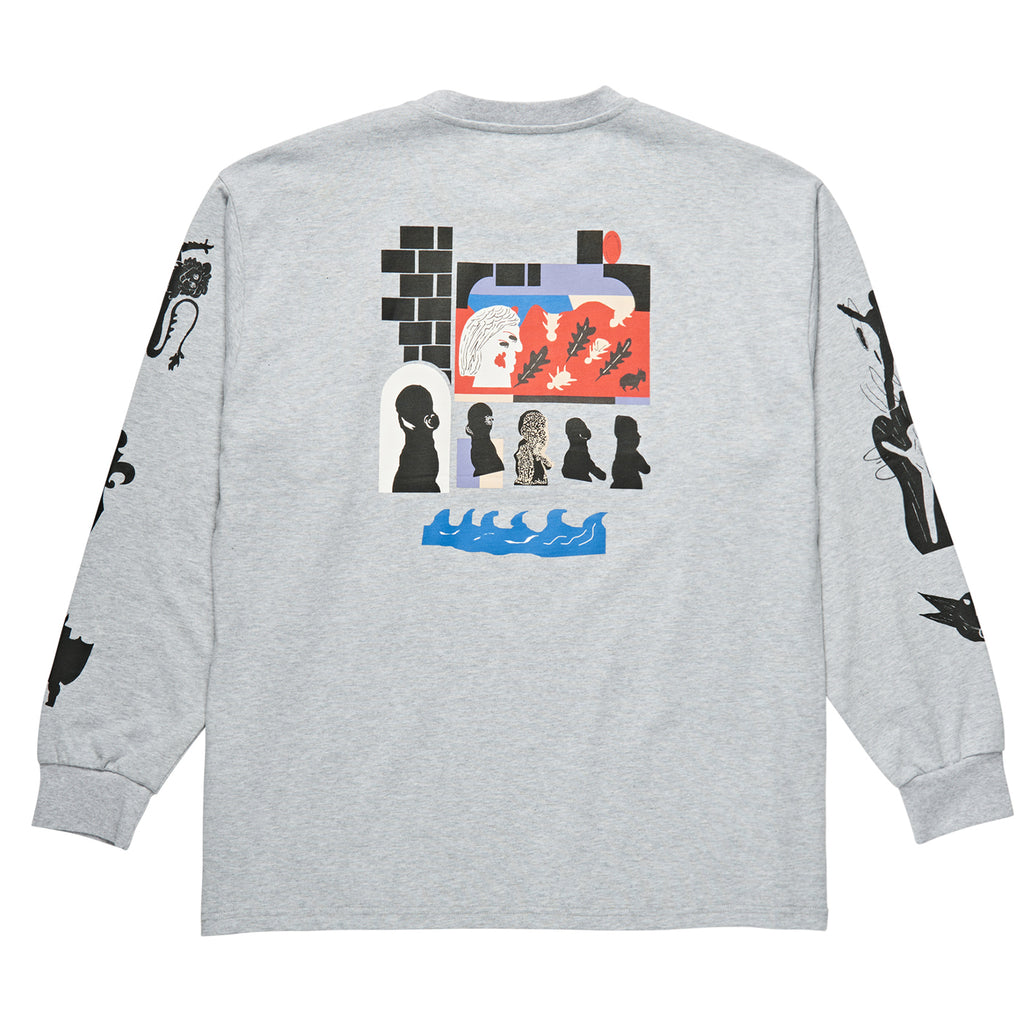 Polar Skate Co L/S Gnarhammer T Shirt in Sport Grey